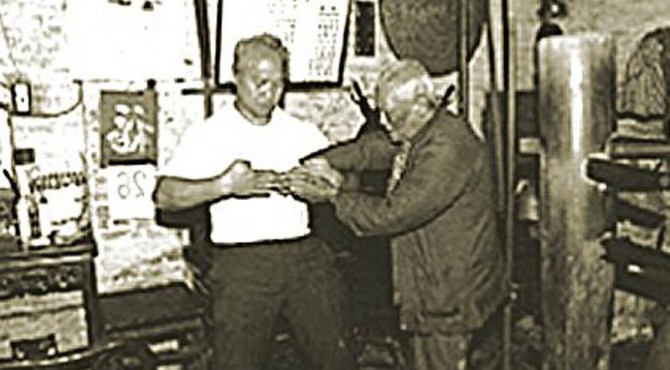 Grandmaster Pan Nam with Sifu Chong